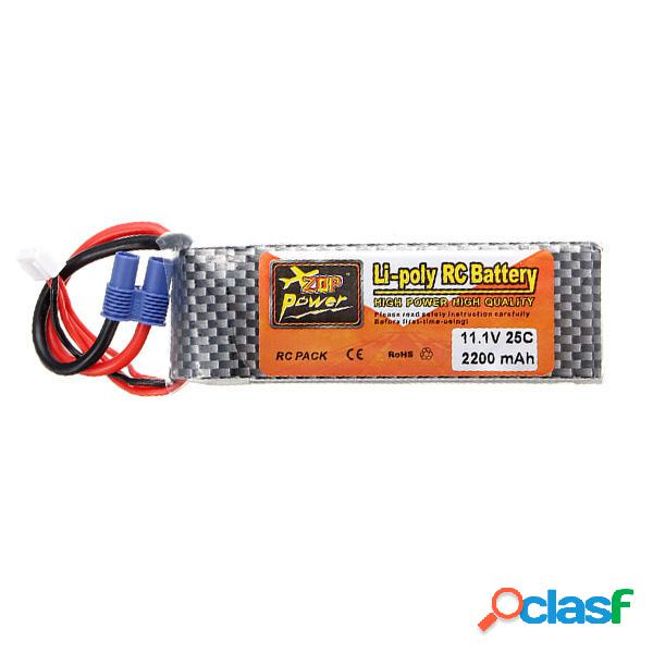 Batería de Lipo ZOP Power 11.1V 2200MAH 3S 25C Enchufe EC3