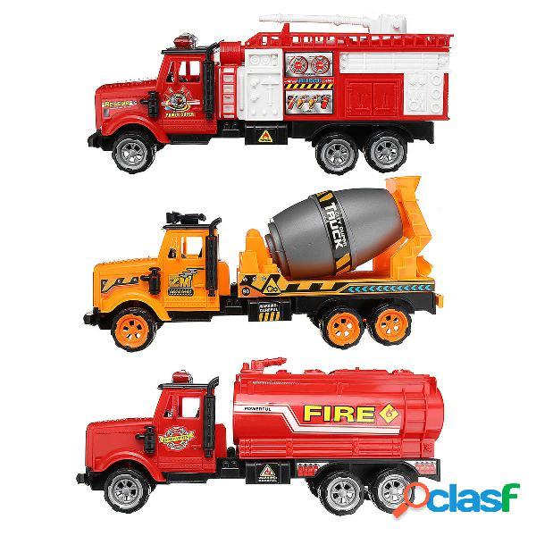 Bebé niños camión cisterna de bomberos construcción