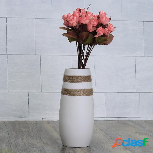 Blanco Moderno Creativo Cerámico florero hecho a mano