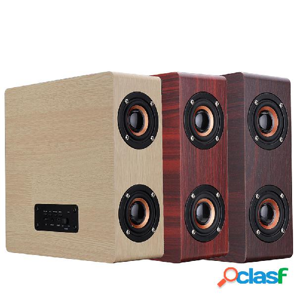 Bluetooth de madera 4.2 Altavoz inalámbrico 4 Altavoz HiFi