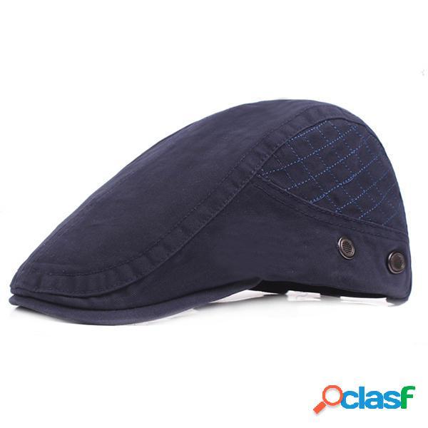 Boina ajustable de algodón para hombres Sombrero Sombrilla