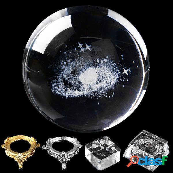 Bola de cuarzo grabada con forma de bola de cristales de