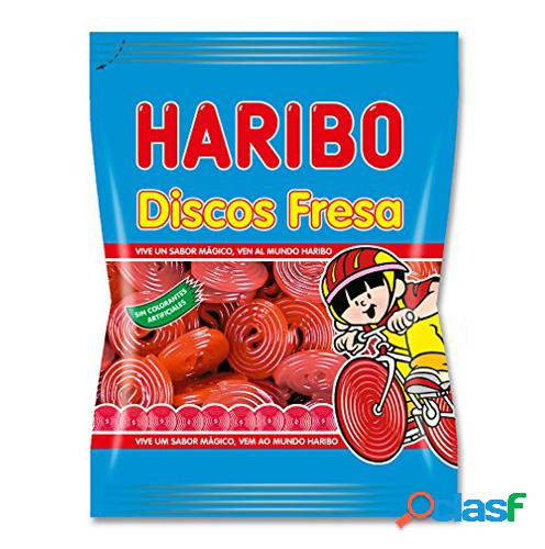 Bolsitas de discos de fresa Haribo 80 gr