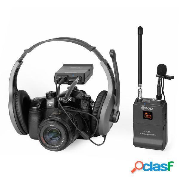 Boya BY-WFM12 VHF solapa solapa Micrófono Receptor