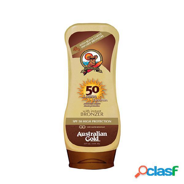 Bronzer. AUSTRALIAN GOLD Sunscreen Lotion SPF 50 Bronzer