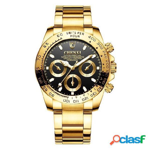 CHENXI 086A Estilo de negocios Reloj de pulsera de hombre