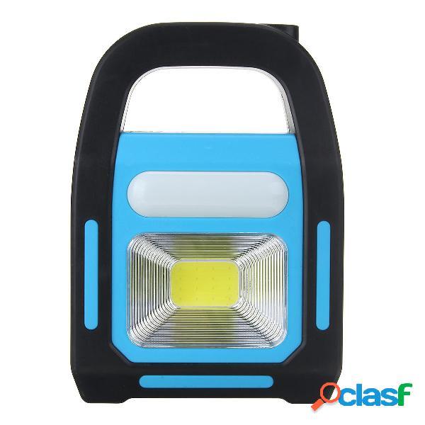 COB con energía solar LED Luz de trabajo Linterna