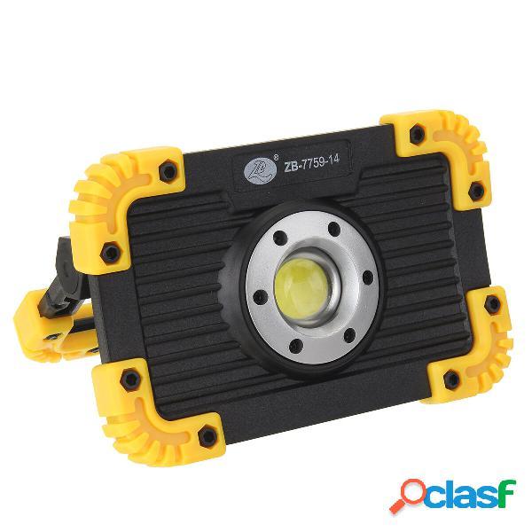 COB recargable LED Luz de trabajo de inundación Impermeable
