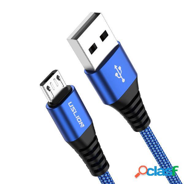 Cable de datos de carga rápida USLION 3A Micro USB para