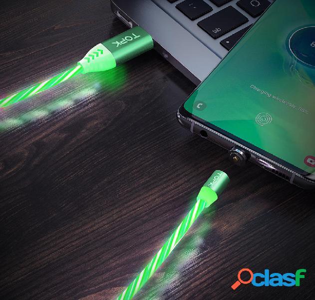 Cable de datos micro USB magnético TOPK Flow Glow para
