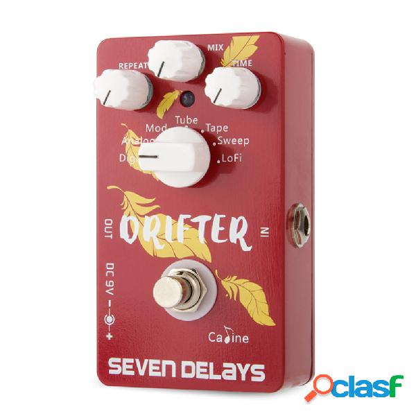 Caline CP-37 SEVEN DELAYS Pedal de efectos de guitarra con