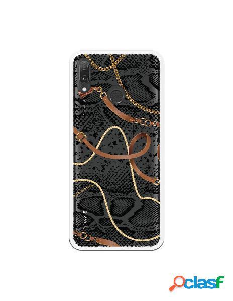 Carcasa Animal Print Serpiente cadenas transparente para