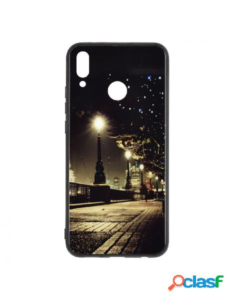 Carcasa Brillo Oscuridad Ciudad para Huawei Y9 2019