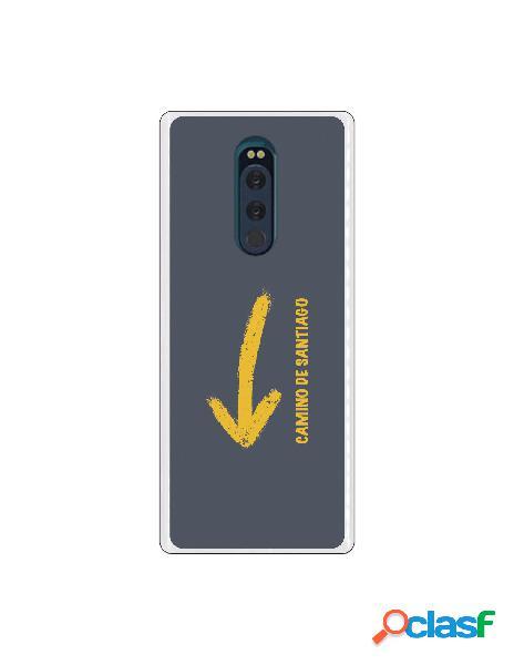 Carcasa Camino de Santiago flecha para Sony Xperia XZ4
