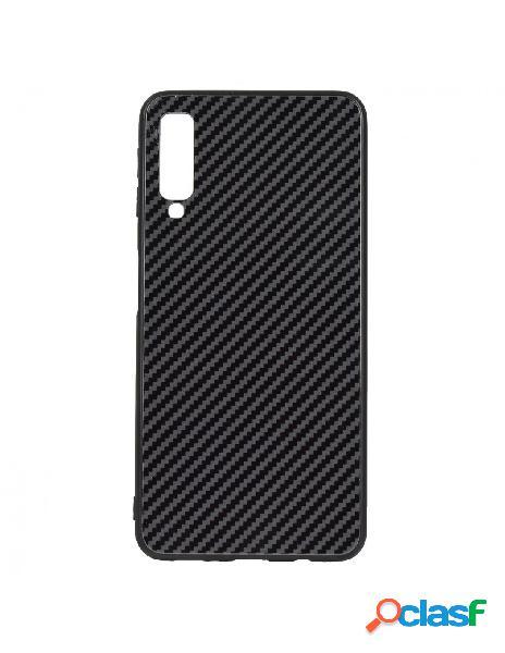 Carcasa Cristal Fibra de Carbono para Samsung Galaxy A7 2018