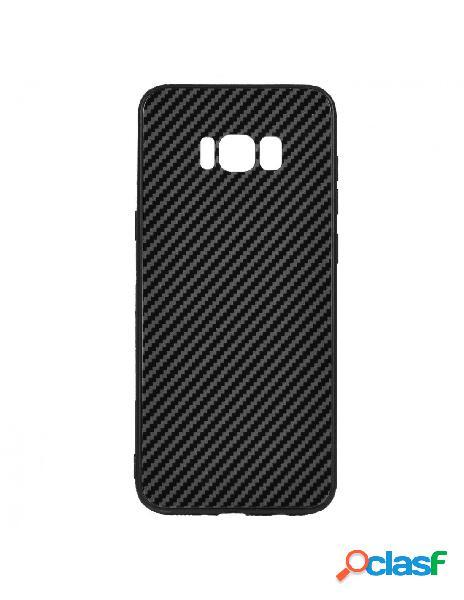 Carcasa Cristal Fibra de Carbono para Samsung Galaxy S8