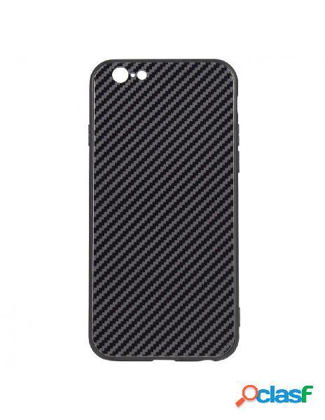 Carcasa Cristal Fibra de Carbono para iPhone 6s