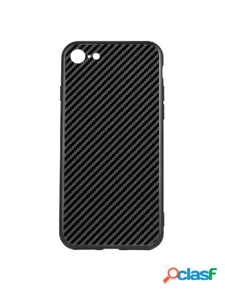 Carcasa Cristal Fibra de Carbono para iPhone 8