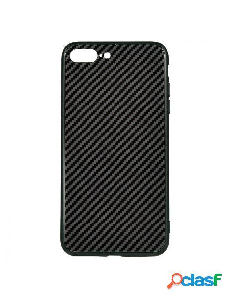 Carcasa Cristal Fibra de Carbono para iPhone 8 Plus