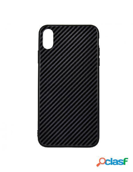 Carcasa Cristal Fibra de Carbono para iPhone XS