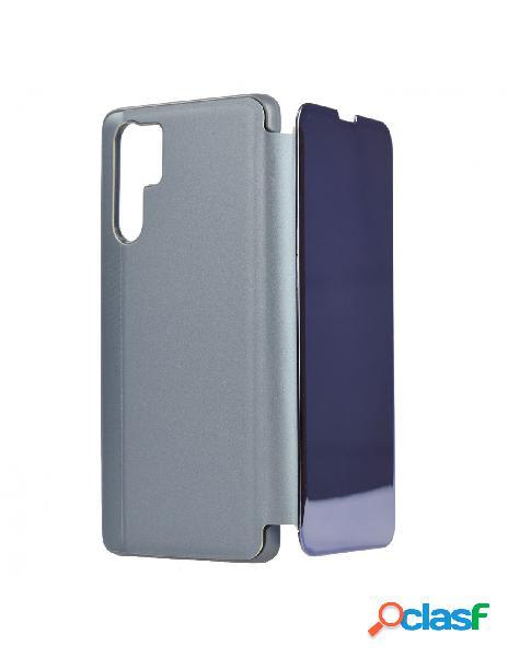 Carcasa Espejo Funda Libro Azul para Huawei P30 Pro