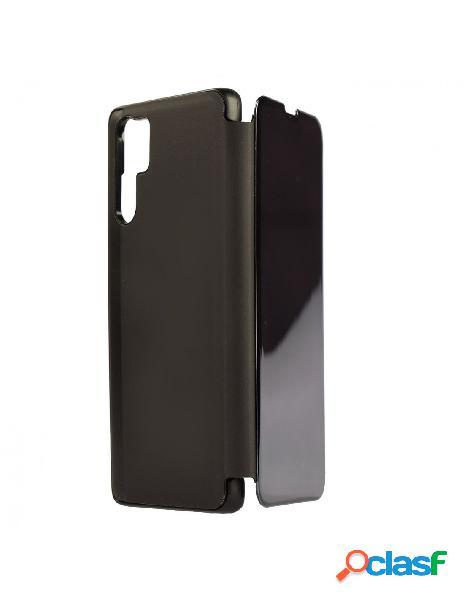Carcasa Espejo Funda Libro Negro para Huawei P30 Pro
