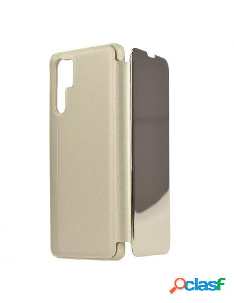 Carcasa Espejo Funda Libro Plata para Huawei P30 Pro