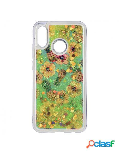 Carcasa Líquida Piñas y Flores para Huawei P20 Lite