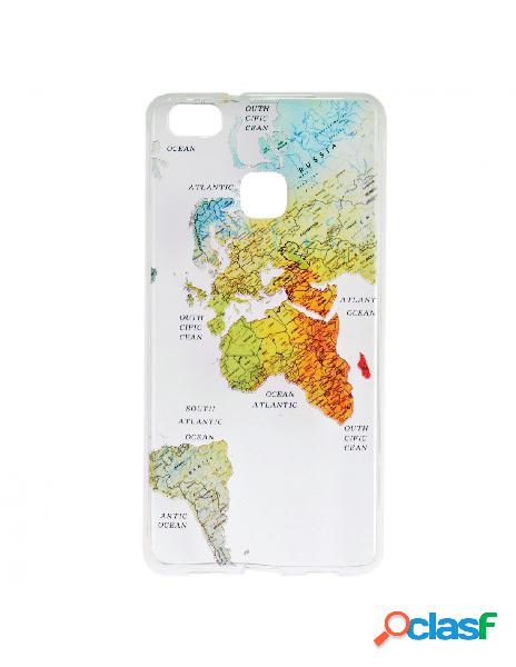 Carcasa Mapa del Mundo para Huawei P9 Lite