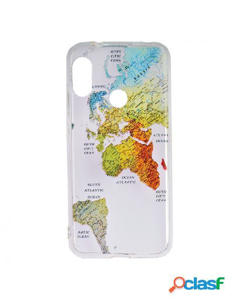 Carcasa Mapa del Mundo para Xiaomi Mi A2 Lite