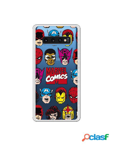 Carcasa Marvel Comics Super Heroes para Samsung Galaxy S10