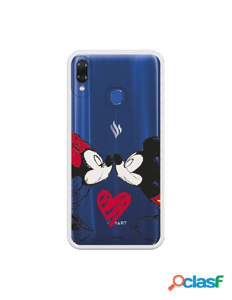 Carcasa Oficial Disney Mickey Y Minnie Beso Clear para