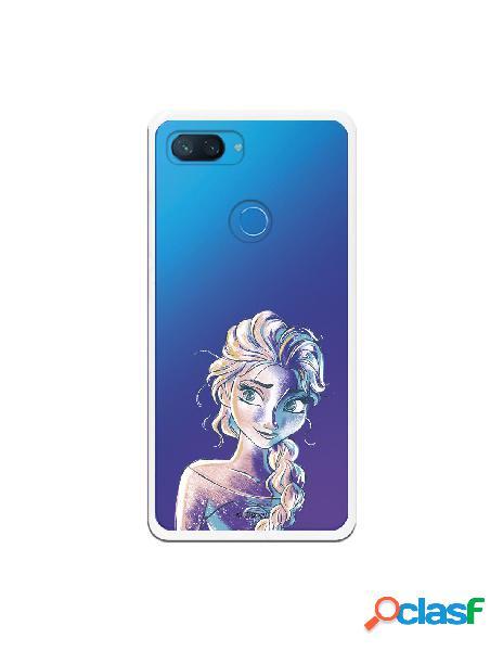 Carcasa Oficial Frozen Elsa Azul Clear para Xiaomi Mi 8 Lite