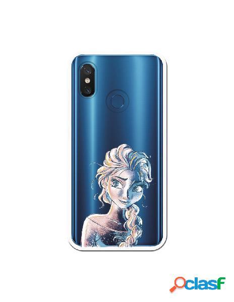 Carcasa Oficial Frozen Elsa Azul Clear para Xiaomi Mi 8 Pro