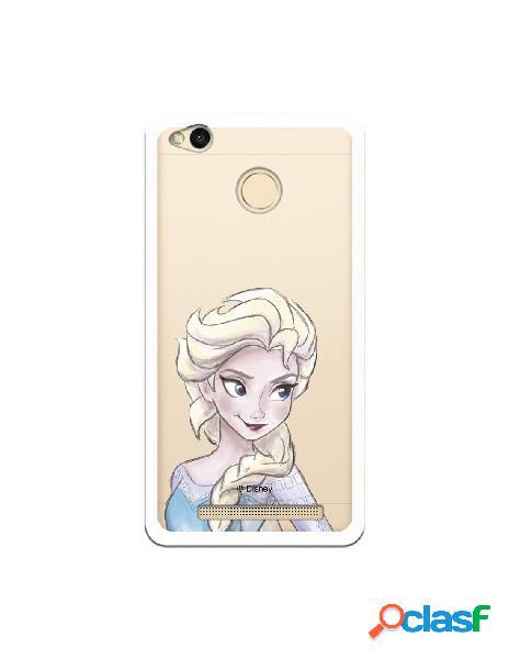 Carcasa Oficial Frozen Elsa Clear para Xiaomi Redmi 3 Pro