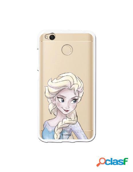 Carcasa Oficial Frozen Elsa Clear para Xiaomi Redmi 4X