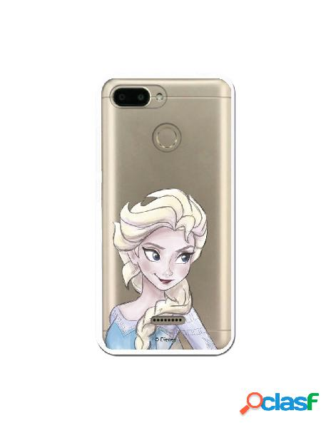 Carcasa Oficial Frozen Elsa Clear para Xiaomi Redmi 6