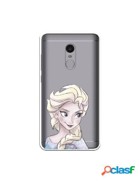 Carcasa Oficial Frozen Elsa Clear para Xiaomi Redmi Note 4