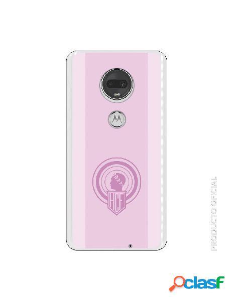 Carcasa Oficial Hércules escudo rosa para Motorola Moto G7