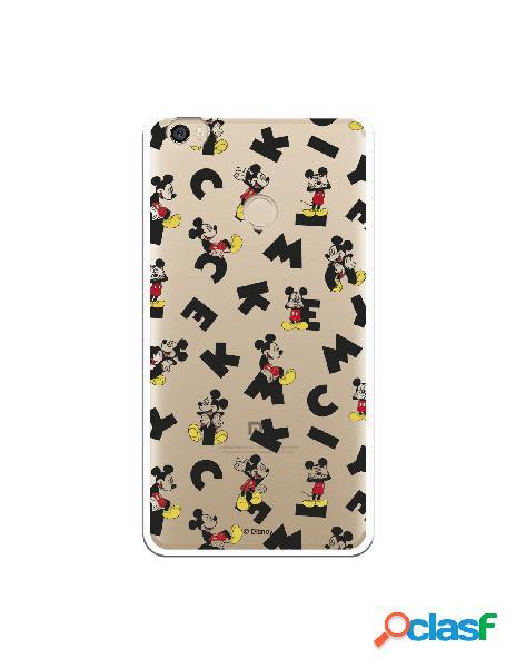 Carcasa Oficial Mickey Letras Clear para Xiaomi Mi Max