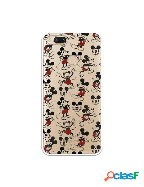 Carcasa Oficial Mickey Patrón Clear para Xiaomi Mi A1