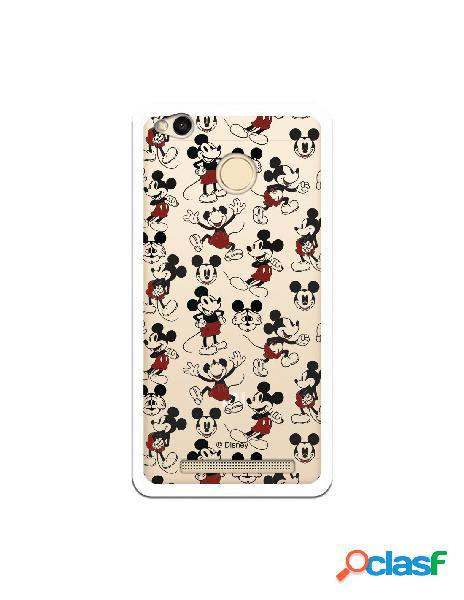 Carcasa Oficial Mickey Patrón Clear para Xiaomi Redmi 3 Pro
