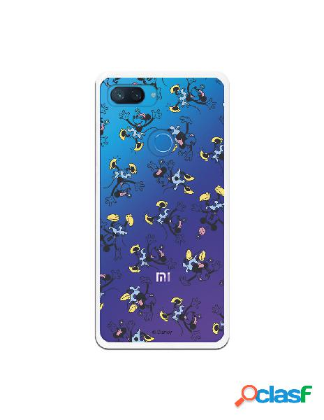 Carcasa Oficial Minnie Falda Azul Clear para Xiaomi Mi 8