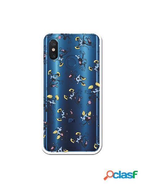 Carcasa Oficial Minnie Falda Azul Clear para Xiaomi Mi 8 Pro