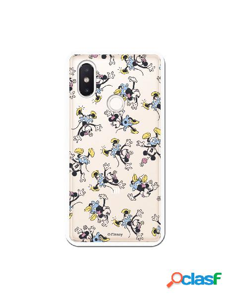 Carcasa Oficial Minnie Falda Azul Clear para Xiaomi Mi 8 SE
