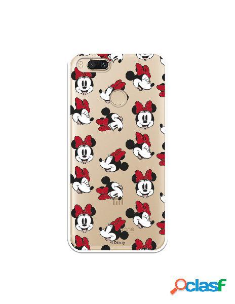 Carcasa Oficial Minnie Patrón Caras Clear para Xiaomi Mi A1