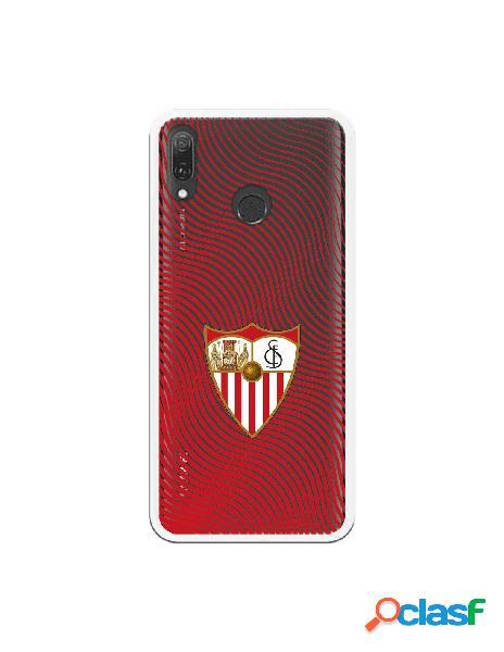 Carcasa Oficial Sevilla Ondas rojas Transparente SS18 para