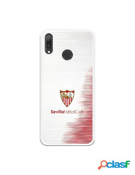 Carcasa Oficial Sevilla Rayas blancas y rojas sobre fondo