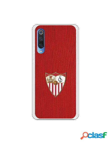 Carcasa Oficial Sevilla escudo color fondo rojo para Xiaomi