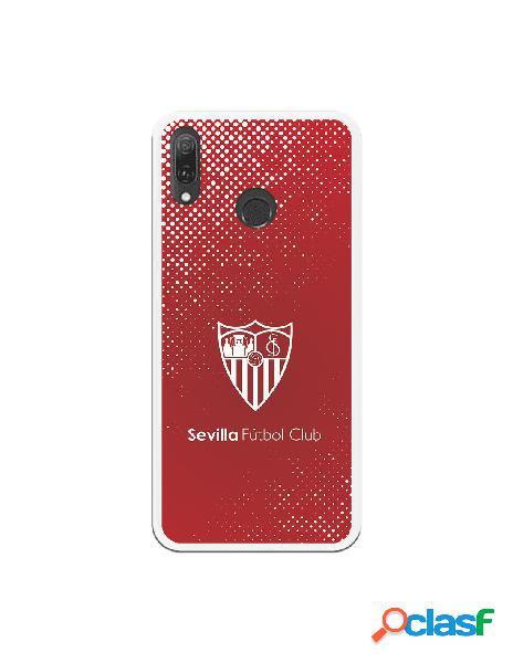 Carcasa Oficial Sevilla trama y escudo blanco sobre fondo